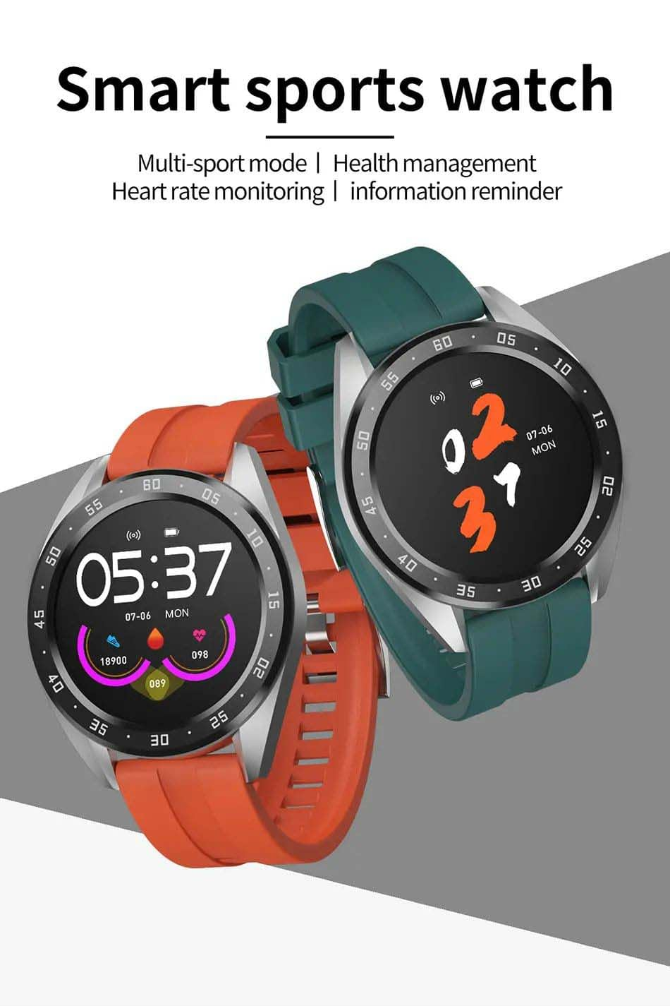 X10 heart rate blood oxygen monitor weather push call rminder smart watch wholesale (12)