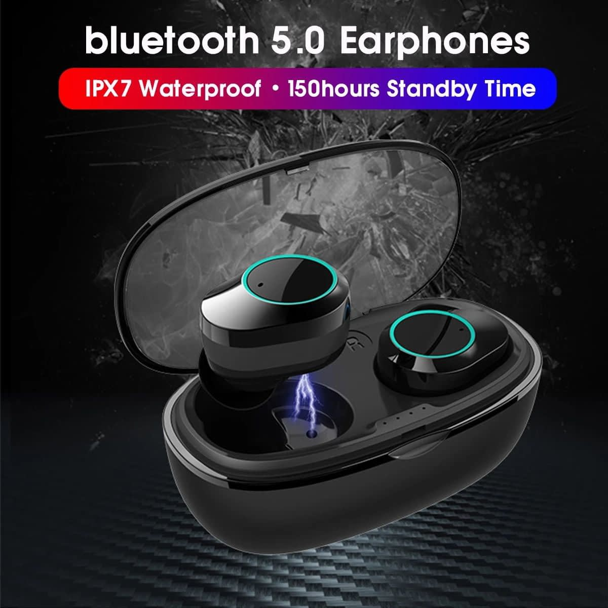 T2C TWS Bluetooth 5.0 earphone hifi stereo type-c charging case wholesale china 1 (3)