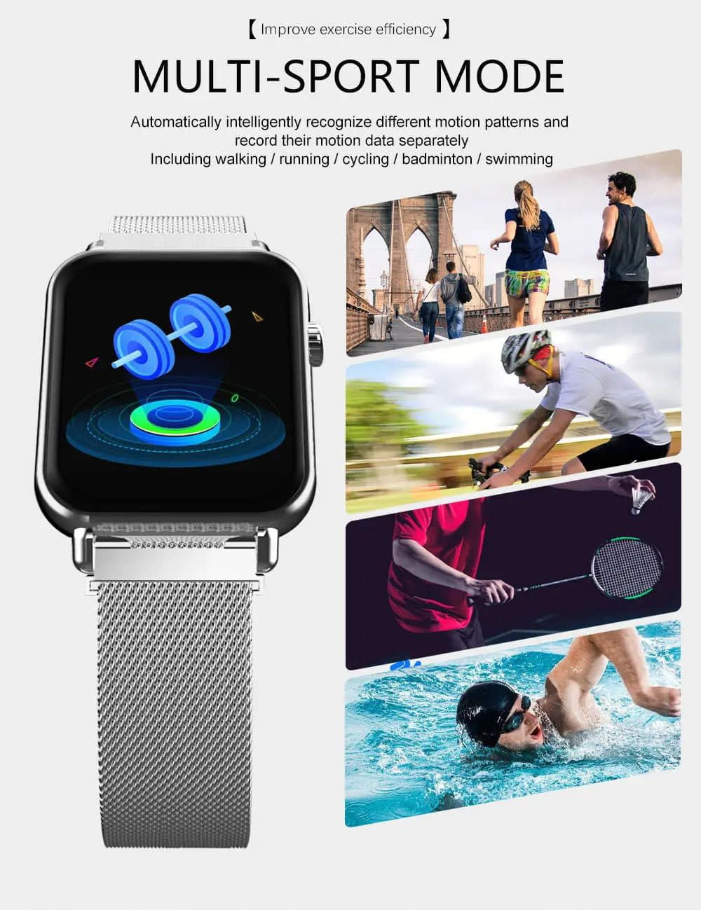 Y6 pro Smart watch fun dynamic icon hr blood pressure (25)