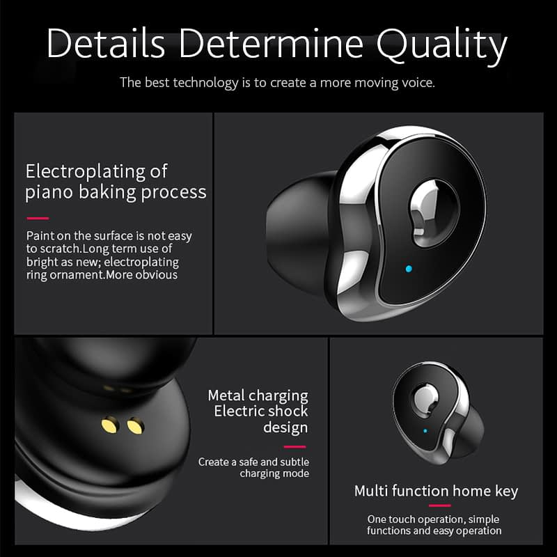 TW2 Bluetooth 5.0 tws true wireless earbuds stereo auto paring earphone (19)