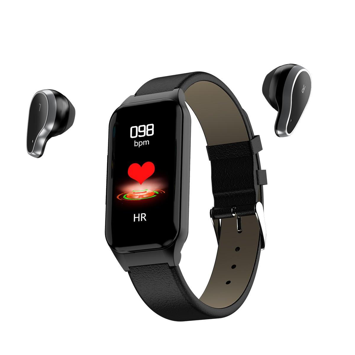 L818 Wireless Earphone Wristband Smart Watch