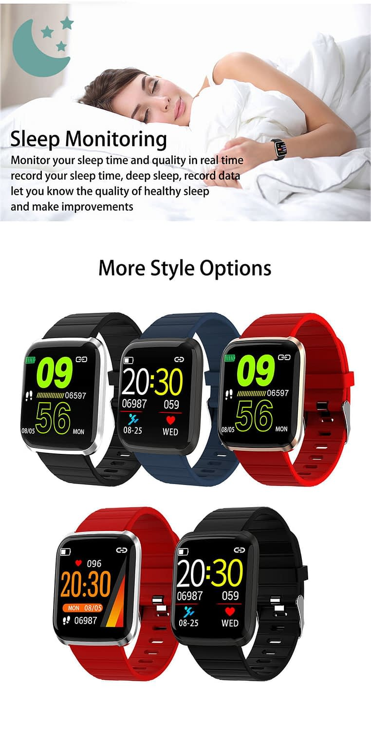 116 pro smart watch 1.3 inch heart rate blood pressure watch (6)