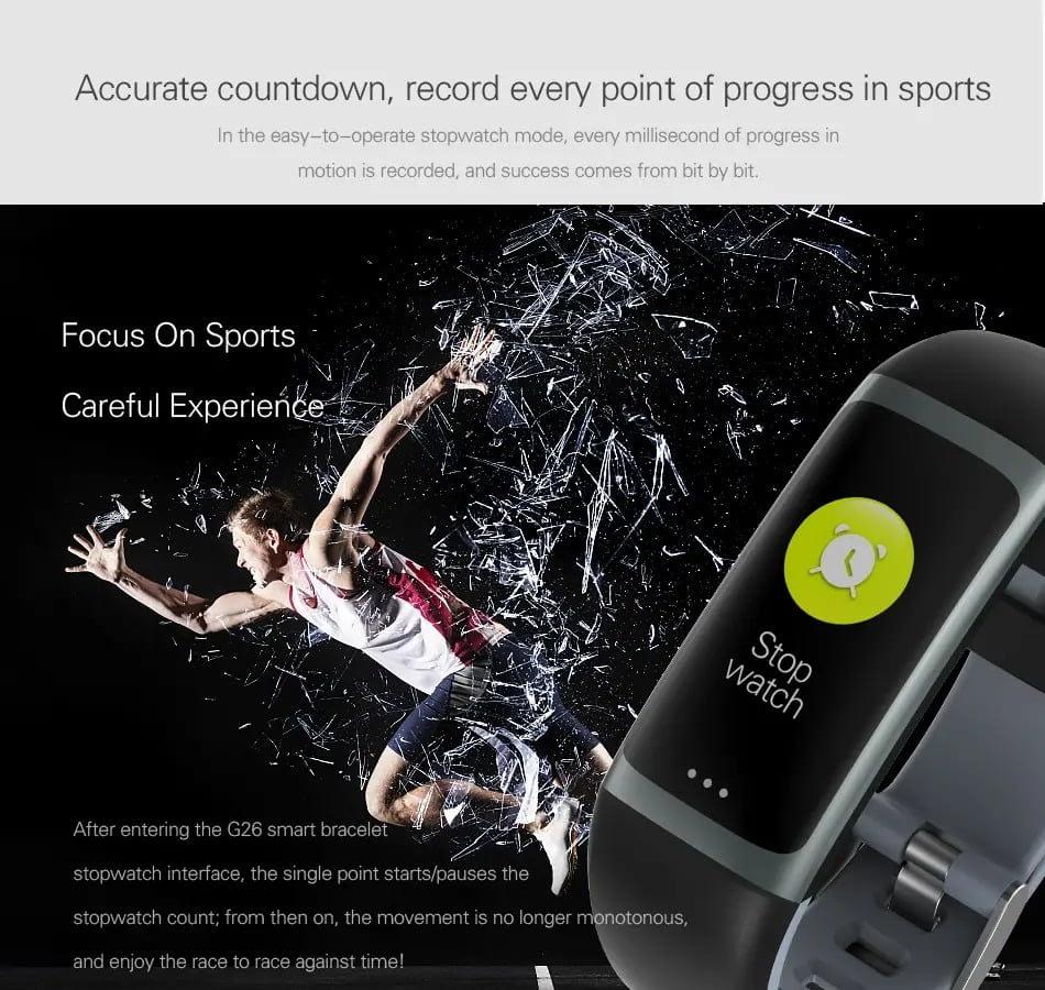 G26 0.96 inch Blood Oxygen Pressure Heart Rate Sleep Reminder Fitness (5)