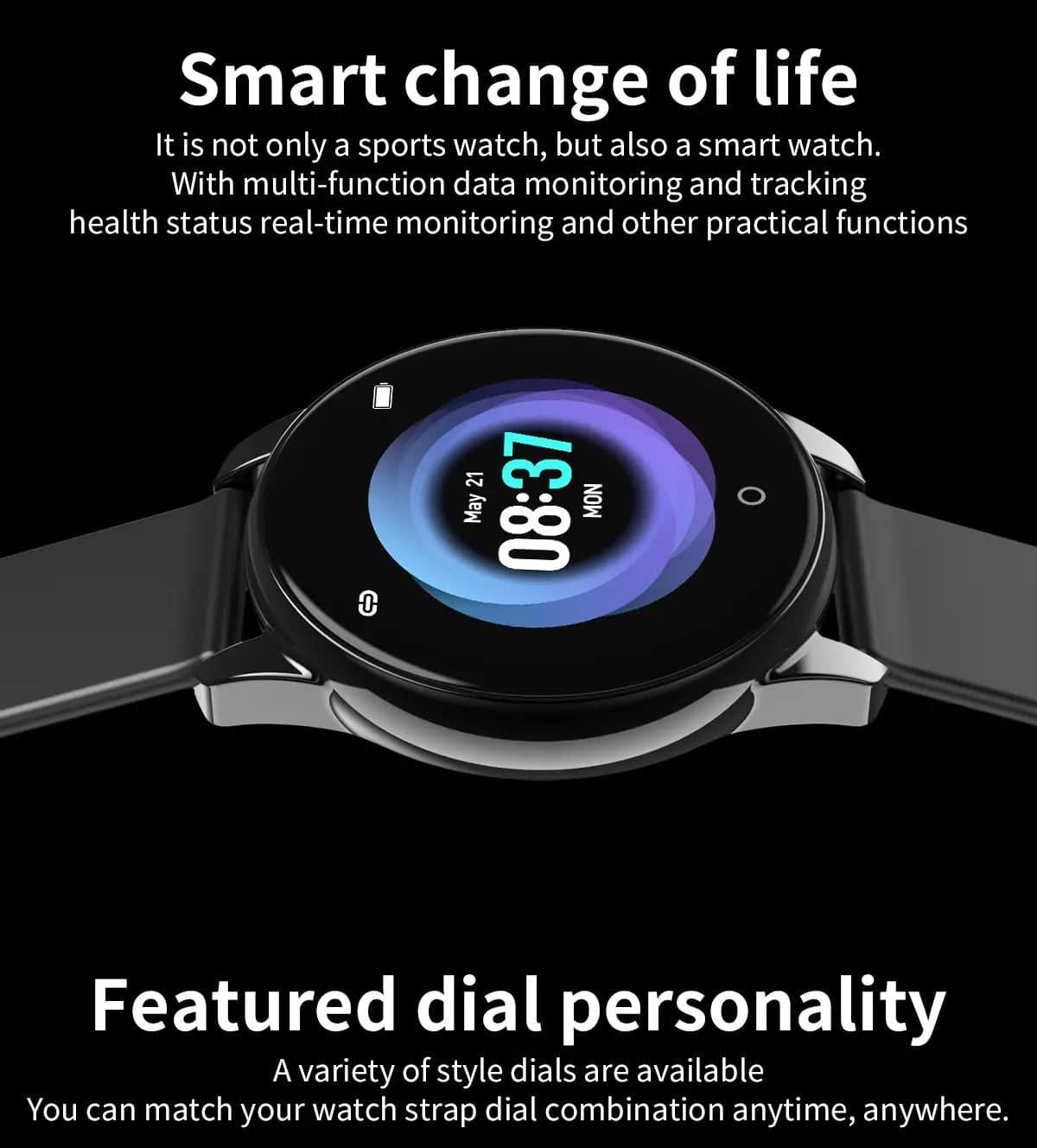 Watch 4 smart watch hd color screen wristband (28)