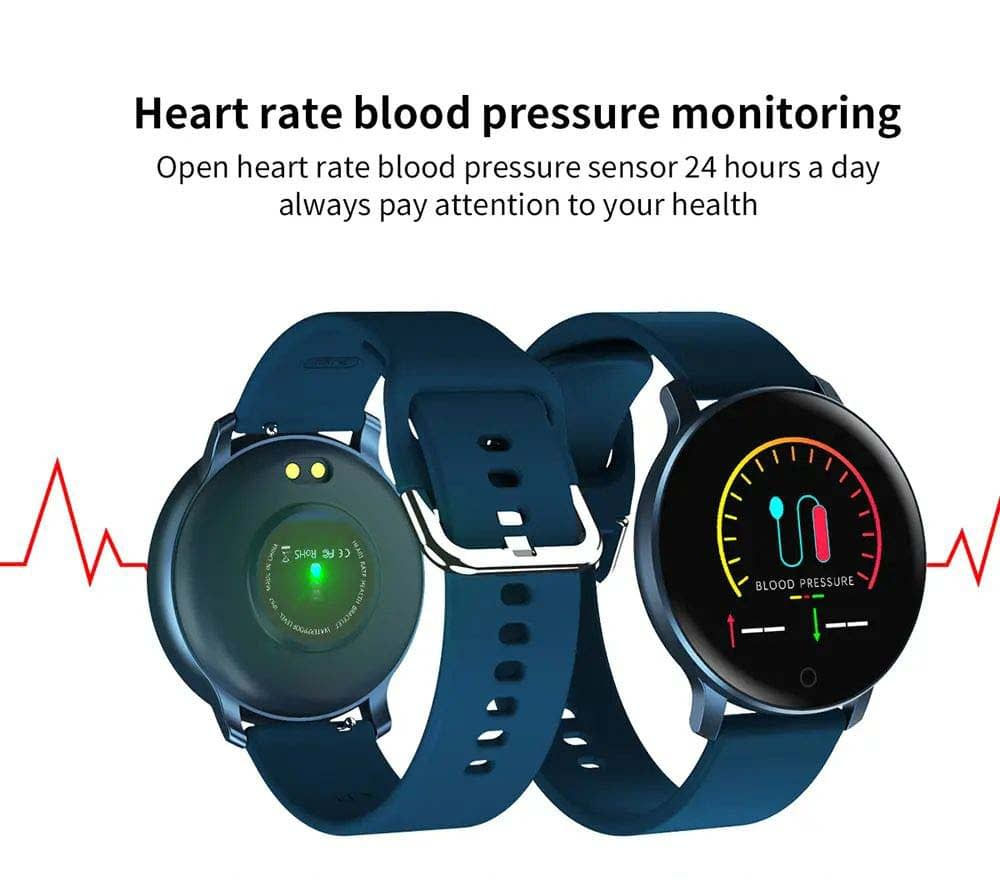 X9 1.3 inch heart rate blood pressure monitor smart watch (1)