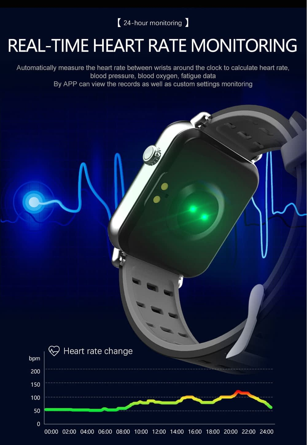 Y6 pro Smart watch fun dynamic icon hr blood pressure (19)