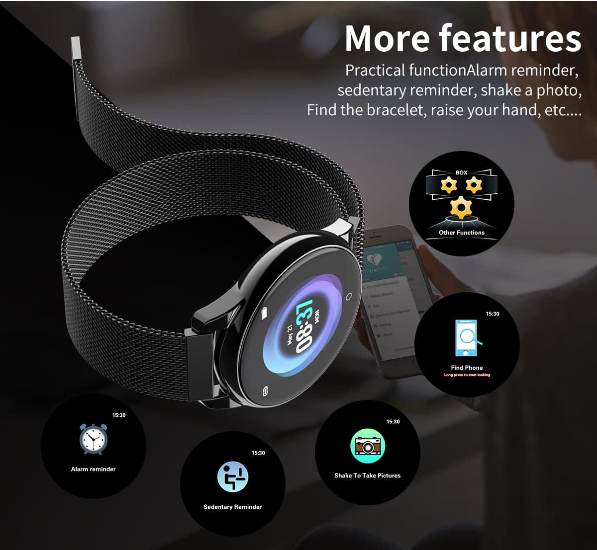Watch 4 smart watch hd color screen wristband (15)