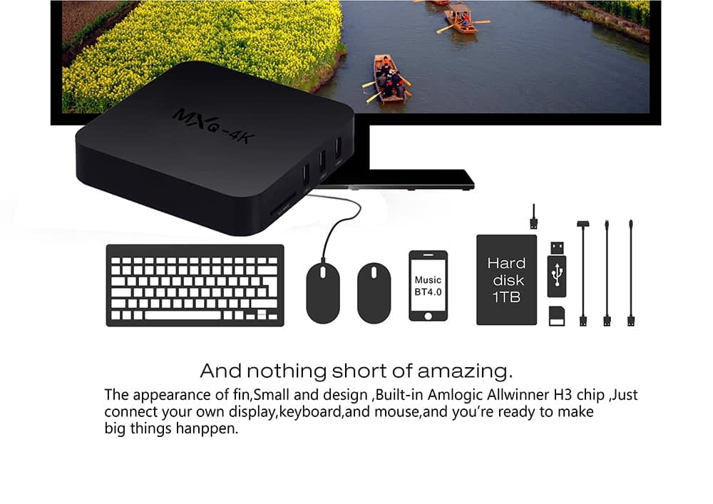 Firefly IV522 MXQ 4K android tv box quad core cortex a53 2 0ghz 1gb 8gb wifi hd 4k player 7