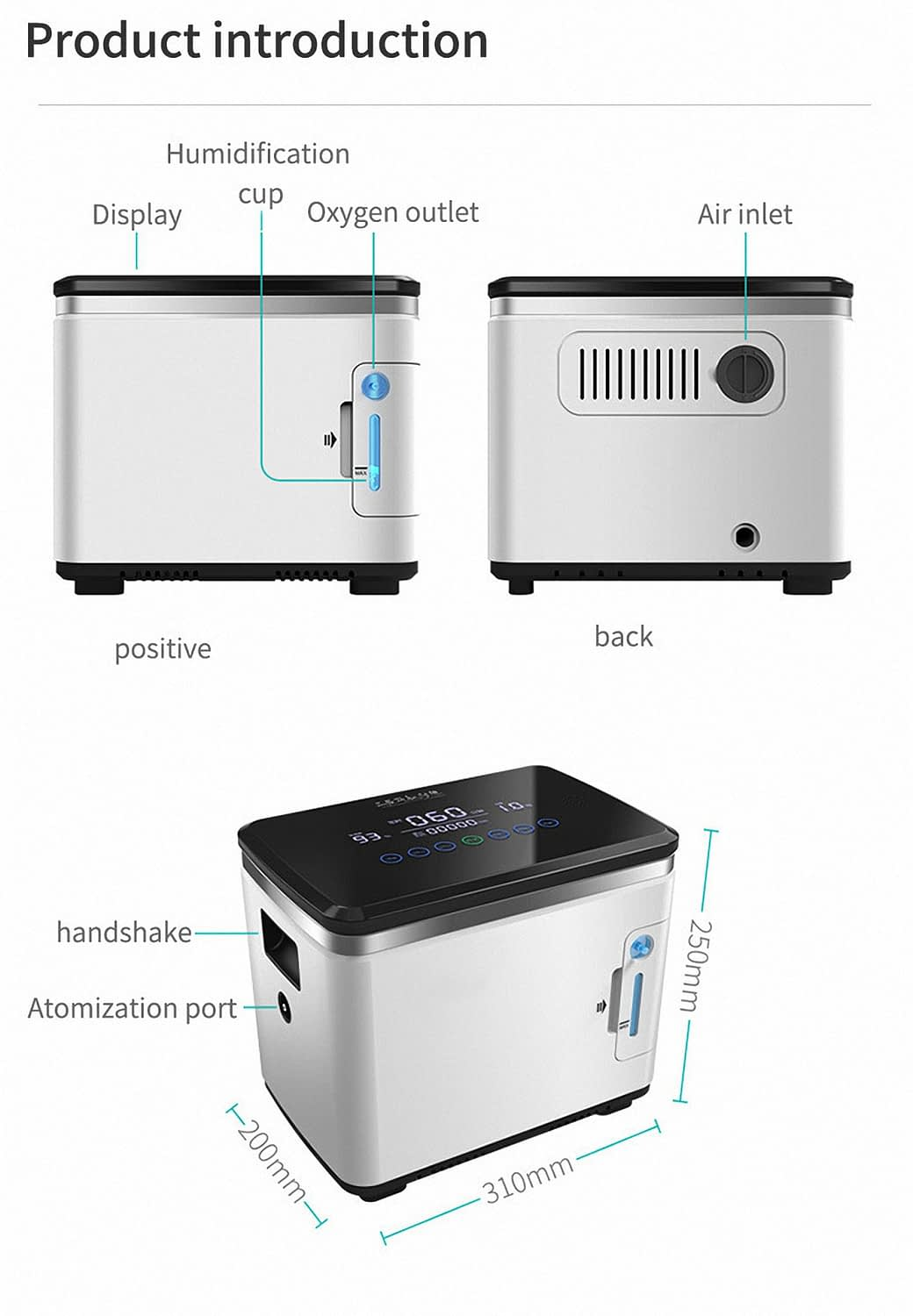 Intelligent Equipped with humidification cup Oxygen generator make the Oxygen moist Oxygen generator China (9)